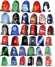 OFFICAL FOOTBALL CLUB TEAM - DRAW STRING GYM BAG SCHOOL PE GYM SPORTS GIFT XMAS