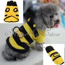 Pet Dog Bumblebee  Halloween Costume Clothes Apparel Bumble Bee Dress Up S/M/L