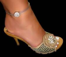 One of a Kind Rhinestone Mesh Anklets Assorted Styles and Colors Adjustable USA