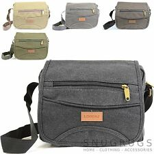 Men's / Ladies Travel / Work Canvas 'Small Messenger' Style Shoulder Bag