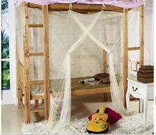 Lace 4 Corner Poster Canopy Bed Mosquito Net Twin Full Queen Size Dormitory Use
