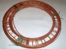 "12"" flat  wire wreath round  rings holly mossing  christmas frames choose amount"