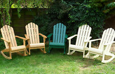New Wooden Patio ROCKING ADIRONDACK Garden ARM CHAIR Rocker Outdoor Furniture
