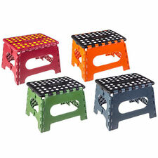 Kikkerland Folding Step Stool w/ Non-Slip Surface & Skid-Resistant Footing
