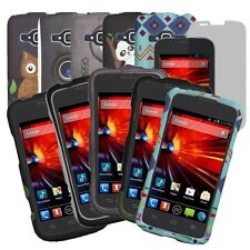ZTE Concord II 2 Z730 Rubberized Design Thin Hard Cover Case+Screen Protector