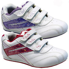 **NEW GIRLS KIDS SHOES WHITE INFANTS VELCRO SCHOOL SKATE TRAINERS PUMPS SIZE 6-2