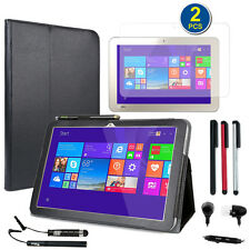 Premium SlimBook Leather Folio Stand Case For Toshiba Encore 2 WT10-A32 10""