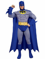 Adult Mens Batman Brave And Bold Costume Padded Muscle Chest Fancy Dress Outfit