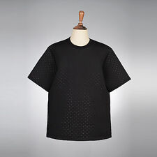 vb HOMME Indie Street Perforated Neoprene Boxy Short-Sleeve Tee OB4