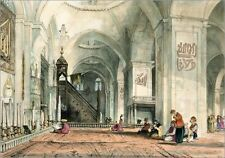 """Poster / Leinwandbild """"Great Mosque at Brussa, plate 24 from 'Ill..."""" - J. Lewis"""