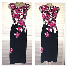 New PRECIS PETITE Planet Debenhams Stretch Floral Cocktail Dress 8 - 16 RP £99