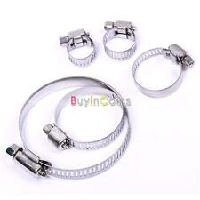 1/10 Pcs Clamps Pipe Clips Air Water Stainless Steel Jubilee Fuel Hose High Easy