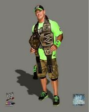 John Cena 2014 WWE Championship Belts Photo (Select Size)