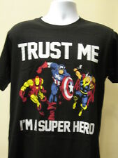 Iron Man Captian America Thor T-Shirt Trust Me Im A Super Hero Mens Tee M-2XL