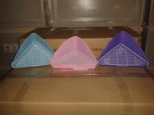 Rabbit/Ferret Triangle CORNER litter Tray with Grid (Blue/Pink/Purple)