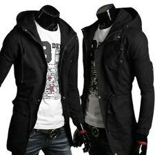 Mens Fashion Military Jacket Hoodie Parka Coat Long Casual Hooded Outwear 3Color
