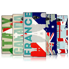 HEAD CASE FLAGS AND LANDMARKS SNAP-ON BACK COVER FOR SONY XPERIA M2