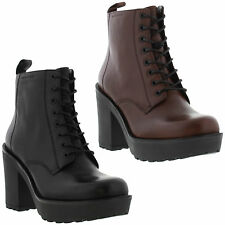 New Vagabond Libby Lace Womens Leather Black Rubi Boots Ladies Size UK 4-8