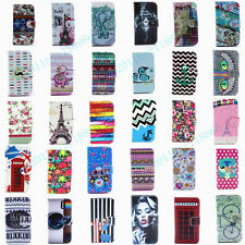 30 Styles Cartoon Fashion Flip Wallet PU Leather Stand Case Cover For Phones