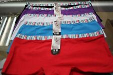 New women 5 pcs lots cotton solid color boyshorts underwear panties-size S-xL