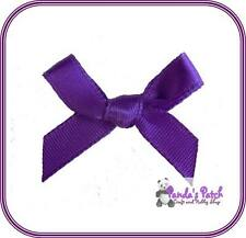 Purple Satin Ribbon Bows, Choose from 3mm or 7mm - 30pk, 50pk or 100pk