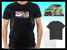 KOOLART CLASSIC BRITISH FORD FOCUS ST mens or lady fit t-shirt tshirt top B/W