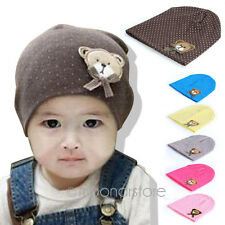 Fashion Beanies Cute Cap Soft Hat Cotton Baby Infant Toddler Kid Boys Girls Gift