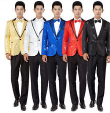 Mens new sequins suits kits stage show Blazer sets Party dress Wedding clothes