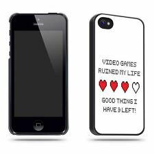 Video Games Ruined My Life Joke Funny Fun  Phone Case Shell for iPhone 5 / 5S