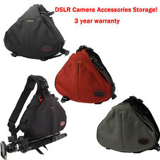 Waterproof DSLR Camera Shoulder Carry Case Bag for Canon EOS Nikon Sony Olympus