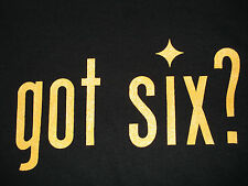 Got Six? We Do! T-shirt Pittsburgh Steelers T-shirt Size M-5XL Black & Gold New