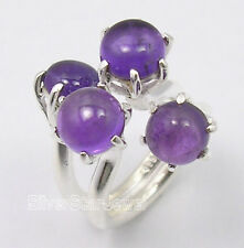 .925 Silver GENUINE AMETHYST DESIGNER New Ring Any Size