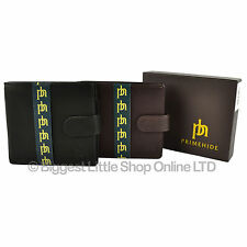 NEW Mens Quality Soft LEATHER WALLET by PRIME HIDE Gift Boxed Stylish with Tab