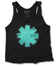 "RED HOT CHILI PEPPERS ""BLUE ASTERISK"" BLACK TANK TOP NEW OFFICIAL JUNIORS RHCP"