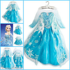 Frozen Girls Elsa Princess Anna Queen Christmas Party Dresses Costume SIZE 3-8Y