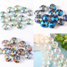 10/50pc Fashion Shine Glass Crystal Spacer Beads Crystal Loose Gem Beads