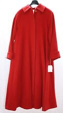 Womens Cashmere Wool Long Hot  Red Winter Coat Swing Style Big sz 18 - MSRP $495