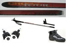 NEW CROSSTOUR XC cross country 75mm SKIS & BINDINGS & BOOTS & POLES - 157cm