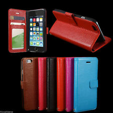 KC Genuine Real Stand Leather Case Wallet Cover Skin For Apple iPhone 6 iPhone6