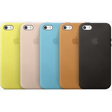 Genuine Apple Leather iPhone 5 & 5s Slim Case Protective Cover - 5 Color -