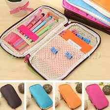 Cute Lovely Pencil Pen Cosmetic Makeup Brush Pouch Storage Purse Bag Case Girls