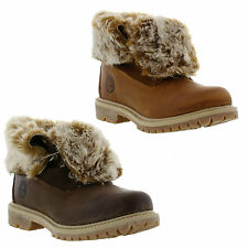 Timberland EARTHKEEPER AUTHENTIC FOLD DOWN Womens Fur Lined Boots Sizes UK 4 - 8