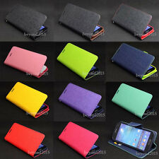 Deluxe PU Leather Skin Flip Wallet Stand TPU Case Cover For Sony Xperia M C1905
