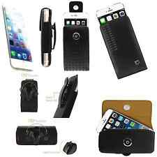 "Apple iphone 6 4.7"" Premium Leather case With Rotating Swivel Belt Clip Holster"