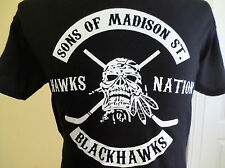 NEW Chicago Blackhawks SON'S OF MADISON STREET T-SHIRT Anarchy