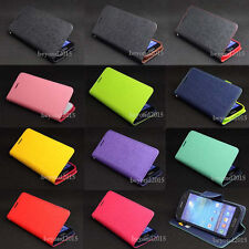 Deluxe Flip PU Leather Wallet Stand Soft TPU Case Cover For Samsung S4Mini i9190