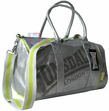 Lonsdale Silver Sports Bag Holdall Gym School Travel Weekends Away FREE POST