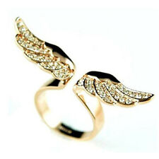 Fashion New Style Angel Wing Gold/Silver Plated Crystal Lovely Ring Jewelry