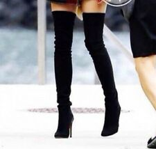 Sexy Womens Pointy Toe High Heel Stiletto Over The Knee Thigh High Boots Shoes