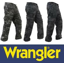 Mens Genuine Wrangler Jeans Co® Cargo Combat Work Trousers Camo Camouflage Pants